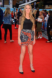 Image ©Licensed to i-Images Picture Agency. 12/08/2014. London, United Kingdom. <br /> Beth Sherburn attends the What If - UK film premiere. Leicester Square. Picture by Chris Joseph / i-Images