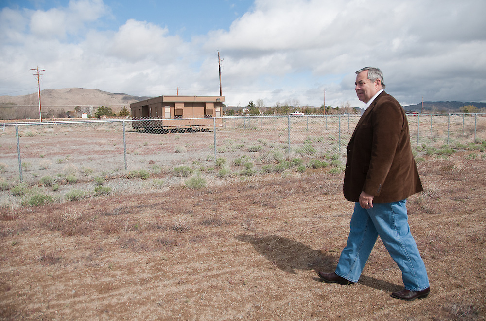SPARKS, NV - APRIL, 21: City councilman Michael Carrigan of Sparks, Nev. poses for a portrait at the site of a proposed casino in his ward. Carrigan was sanctioned for voting in favor of the project. His campaign manager helped develop it. His ethics case, Nevada Commission on Ethics v. Carrigan is set for argument with the Supreme Court, Wednesday April 27.  (Photo by David Calvert/For The Washington Post)