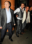 30.OCTOBER.2007. LONDON<br /> <br /> LOUIS WALSH AND CREW HIS OF ARTIST&rsquo;S SHAYNE WARD, WESTLIFE, AND STEPHEN GATELY OF BOYZONE WITH BOYFRIEND ANDREW COWLEY LEAVING CIPRIANIS RESTAURANT IN MAYFAIR ALSO THERE WERE JODI ALBERT,  GEORGINA AHERN AND KEVIN McDAID.<br /> <br /> BYLINE: EDBIMAGEARCHIVE.CO.UK<br /> <br /> *THIS IMAGE IS STRICTLY FOR UK NEWSPAPERS AND MAGAZINES ONLY*<br /> *FOR WORLD WIDE SALES AND WEB USE PLEASE CONTACT EDBIMAGEARCHIVE - 0208 954 5968*