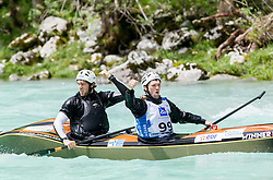 Gaetan Guyonnet and Damien Guyonnet competed in C2 men at final sprint race of European wildwater Canoeing Championships Soca 2013 on May 12, 2013 in Trnovo ob Soci, Soca river, Slovenia. (Photo By Vid Ponikvar / Sportida)