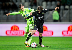 Ed Kevin Kokorovic of Koper vs Etien Velikonja of NK Olimpija during football match between FC Luka Koper and NK Olimpija Ljubljana in Round #16 of Prva liga Telekom Slovenije 2016/17, on November 6, 2016 in Stadium Bonifika, Koper/ Capodistria, Slovenia. Photo by Vid Ponikvar / Sportida