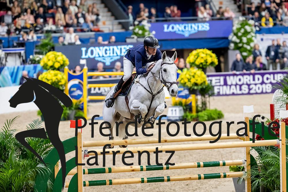 FREDRICSON Peder (SWE), Catch Me Not S<br /> Göteborg - Gothenburg Horse Show 2019 <br /> Longines FEI World Cup™ Final II<br /> Int. jumping competition with jump-off (1.50 - 1.60 m)<br /> Longines FEI Jumping World Cup™ Final and FEI Dressage World Cup™ Final<br /> 05. April 2019<br /> © www.sportfotos-lafrentz.de/Stefan Lafrentz