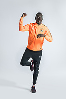 **EXCLUSIVE**Portrait of Senegalese soccer player Papiss Cisse of Shandong Luneng Taishan F.C. for the 2018 Chinese Football Association Super League, in Ji'nan city, east China's Shandong province, 24 February 2018.