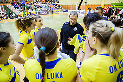 Marko Kalc, head coach of Koper during volleyball match between Nova KBM Branik Maribor and OK Luka Koper in Final of Women Slovenian Cup 2014/15, on January 18, 2015 in Sempeter v Savinjski dolini, Slovenia. Photo by Vid Ponikvar / Sportida
