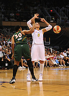 Sep 5, 2010; Phoenix, AZ, USA; Phoenix Mercury guard Diana Taurasi (3) is fouled by Seattle Storm guard Tanisha Wright (30) during the first half in game two of the western conference finals in the 2010 WNBA Playoffs at US Airways Center.  Mandatory Credit: Jennifer Stewart-US PRESSWIRE