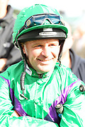 Former jockey Derek McGaffin during the opening day of the St Leger Festival at Doncaster Racecourse, Doncaster, United Kingdom on 11 September 2019.