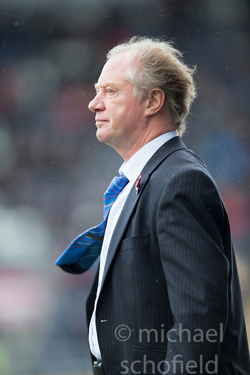 Cowdenbeath's manager Jimmy Nicholl.<br /> Falkirk 6 v 0 Cowdenbeath, Scottish Championship game played at The Falkirk Stadium, 25/10/2014.