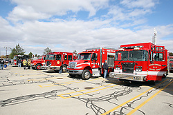 07 October 2012:   State Farm Corporate Headquarters parking lot display at end of Bloomington Fire Truck Parade
