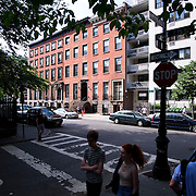 June 1, 2016 - New York, NY : The Missionary Sisters of the Immaculate Heart of Mary (I.C.M.)  are selling their 25-bedroom, two-story, combined two-townhome property located at 236 East 15th Street. Here, a view of the exterior of the property (center) from Rutherford Place at E 15th Street on Wednesday morning. CREDIT: Karsten Moran for The New York Times