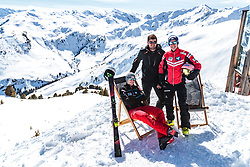 02.04.2018, Skizentrum Hochzillertal, Kaltenbach, AUT, JumpandReach Skitag, im Bild Michael Hayboeck, Maximilian Schultz, Stefan Kraft // during the Skiing Day after the Winterseason with the Austrian JumpandReach Athletes at the Skiresort Hochzillertal, Austria on 2018/04/02. EXPA Pictures © 2018, PhotoCredit: EXPA/ JFK