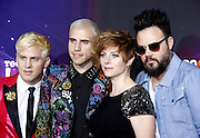 17.NOVEMBER.2012. LOS ANGELES<br /> <br /> NEON TREES AT THE 2012 TEENNICK HALO AWARDS HELD AT THE HOLLYWOOD PALLADIUM IN LOS ANGELES, CALIFORNIA, UNITED STATES.<br /> <br /> BYLINE: EDBIMAGEARCHIVE.CO.UK<br /> <br /> *THIS IMAGE IS STRICTLY FOR UK NEWSPAPERS AND MAGAZINES ONLY*<br /> *FOR WORLD WIDE SALES AND WEB USE PLEASE CONTACT EDBIMAGEARCHIVE - 0208 954 5968*