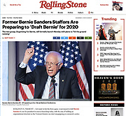 Rolling Stone (12/3/2018) - Senator Bernie Sanders (D - VT) speaking at the J Street National Conference in Washington, DC on April 16, 2018