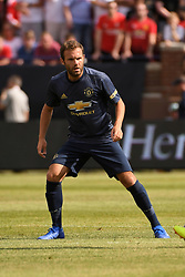 July 28, 2018 - Ann Arbor, MI, U.S. - ANN ARBOR, MI - JULY 28: Manchester United Forward Juan Mata (8) in action during in the first half of the ICC soccer match between Manchester United FC and Liverpool FC on July 28, 2018 at Michigan Stadium in Ann Arbor, MI (Photo by Allan Dranberg/Icon Sportswire) (Credit Image: © Allan Dranberg/Icon SMI via ZUMA Press)