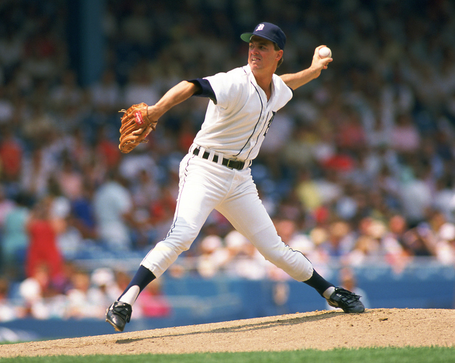 DETROIT - 1987:  Frank Tanana of the Detroit Tigers pitches during an MLB game at Tiger Stadium in Detroit, Michigan during the 1987 season. (Photo by Ron Vesely).  Subject:   Frank Tanana