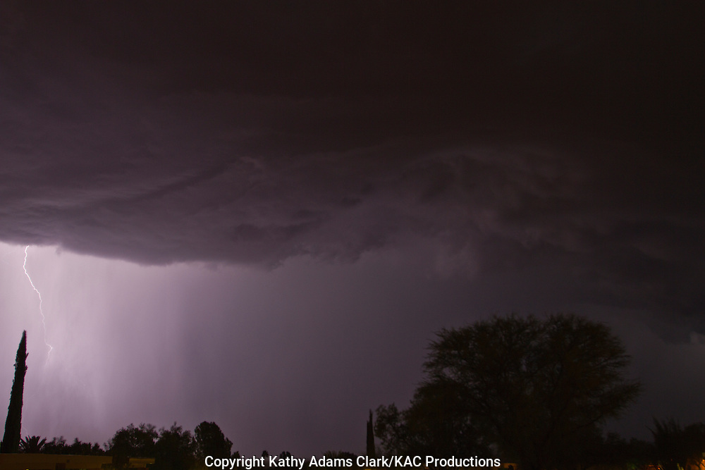 Lightning storm, summer storm, electrical storm, monsoon rains, Green Valley, Arizona,