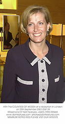 HRH The COUNTESS OF WESSEX at a reception in London on 25th September 2001.OSP 39