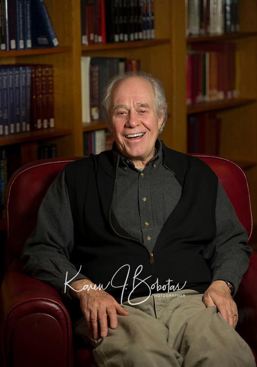 Robert Claflin portrait.  Karen Bobotas for St Paul's School