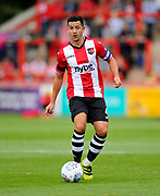 Lloyd James (4) of Exeter City during the EFL Sky Bet League 2 match between Exeter City and Lincoln City at St James' Park, Exeter, England on 19 August 2017. Photo by Graham Hunt.