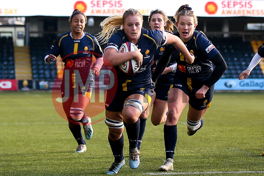 Taz Bricknell of Worcester Warriors Women - Mandatory by-line: Robbie Stephenson/JMP - 01/12/2019 - RUGBY - Sixways Stadium - Worcester, England - Worcester Warriors Women v Bristol Bears Women - Tyrrells Premier 15s