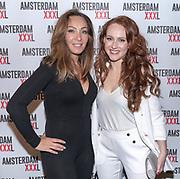 Koninklijk Theater Carre, Amsterdam. Lancering van de zevende editie van Amsterdam XXXl. Op de foto: Brigitte Hamers en Dian Biemans