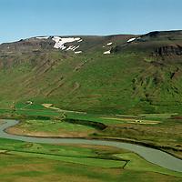 Fremstagil, Engihlíðarhreppur, Blanda í forgrunni. /  .Fremstagil with river Blanda in foreground. Engihlidarhreppur.