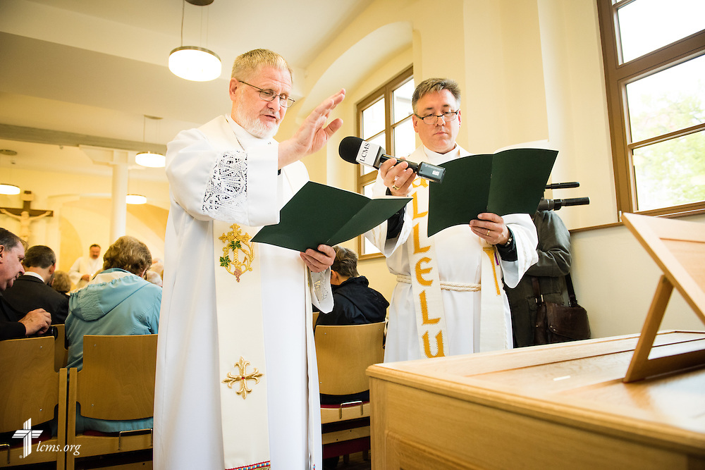 Photographs from the dedication of the International Lutheran Center at the Old Latin School on Sunday, May 3, 2015, in Wittenberg, Germany. The building is a culmination of the joint effort by the LCMS, the Independent Evangelical Lutheran Church (SELK), and the International Lutheran Society of Wittenberg (ILSW), to establish a distinctly Lutheran presence in the very cradle of the Reformation. LCMS Communications/Erik M. Lunsford