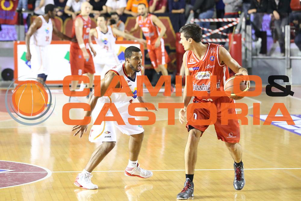 DESCRIZIONE : Roma Campionato Lega A 2013-14 Acea Virtus Roma Grissin Bon Reggio Emilia <br /> GIOCATORE :  Andrea Cinciarini<br /> CATEGORIA : palleggio controcampo<br /> SQUADRA : Grissin Bon Reggio Emilia<br /> EVENTO : Campionato Lega A 2013-2014<br /> GARA : Acea Virtus Roma Grissin Bon Reggio Emilia <br /> DATA : 22/12/2013<br /> SPORT : Pallacanestro<br /> AUTORE : Agenzia Ciamillo-Castoria/M.Simoni<br /> Galleria : Lega Basket A 2013-2014<br /> Fotonotizia : Roma Campionato Lega A 2013-14 Acea Virtus Roma Grissin Bon Reggio Emilia <br /> Predefinita :