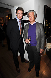 Left to right, JAMES OGILVY and LORD KENILWORTH at the Linley Christmas Party and launch of the book 'Star Pieces' by David Linley, Charles Cator and Helen Chislett held at Linley, 60 Pimlico Road, London on 18th November 2009.