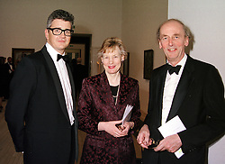 Left to right, MR JAY JOPLING the art dealer and SIR NICHOLAS & LADY GOODISON, at a dinner<br />  in London on 3rd May 2000.ODH 116
