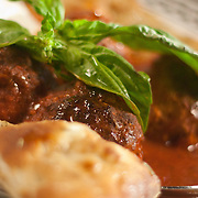 12/17/10 Wilmington DE: Meatball &amp; Ricotta Chesse. Large hand rolled meatballs slowly cooked in tomato sauce at Anthony's Coal Fired Pizzas in Wilmington Delaware.<br /> <br /> Special to The News Journal/SAQUAN STIMPSON