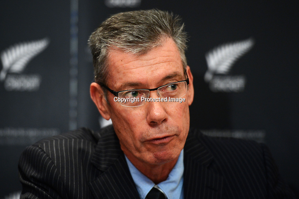 NZC Director of Cricket, John Buchanan, New Zealand Cricket press conference to announce Mike Hesson as the new coach of the New Zealand Black Caps cricket team. Pullman Hotel, Auckland. 20 July 2012. Photo: Andrew Cornaga/photosport.co.nz