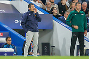 Valencia manager Albert Celades during the Champions League match between Chelsea and Valencia CF at Stamford Bridge, London, England on 17 September 2019.