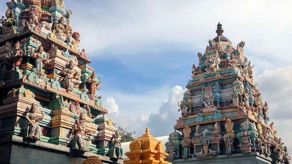 KADIRI, INDIA - 28th October 2019 - Hindu temple architecture, Kadiri, Andhra Pradesh, South India.