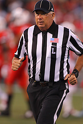 06 Sep 2014: Line judge: Patrick Brown during a non-conference NCAA football game between the Delta Devils of Mississippi Valley State and the Redbirds of Illinois State at Hancock Stadium in Normal Il