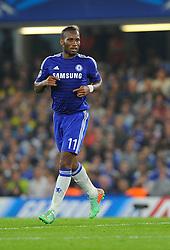 Chelsea's Didier Drogba  - Photo mandatory by-line: Joe Meredith/JMP - Mobile: 07966 386802 - 17/09/2014 - SPORT - FOOTBALL - London - Stamford Bridge - Chelsea v Schalke 04 - Champions League Group Stage