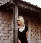 Courtney Love on the set of'Straight to Hell' by Alex Cox, 1986