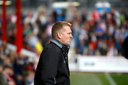 Brentford Manager / Head Coach Dean Smith during the EFL Sky Bet Championship match between Brentford and Queens Park Rangers at Griffin Park, London, England on 22 April 2017. Photo by Andy Walter.