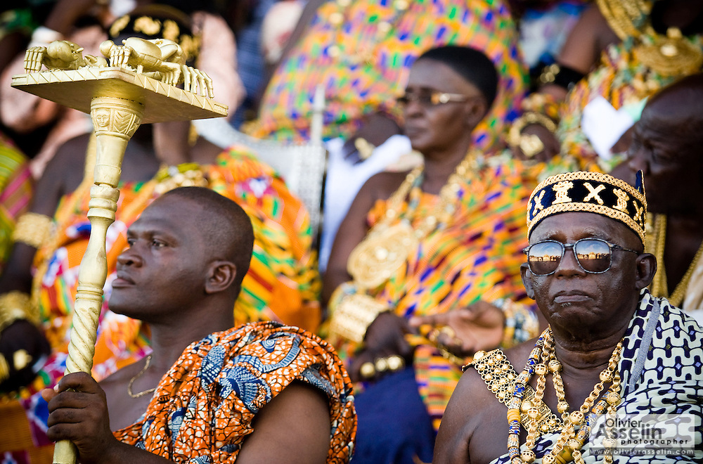 Chief Nana Kojo Abaka IV (right) sits among other chiefs during the annual Oguaa Fetu Afahye Festival in Cape Coast, Ghana on Saturday September 6, 2008.