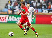 CAPE TOWN, SOUTH AFRICA, MONDAY 21 June 2010, Fabio Coentrao during the match between Portugal and Korea PRK held at the new Cape Town Stadium in Green Point during the 2010 FIFA World Cup..Photo by Roger Sedres/Image SA