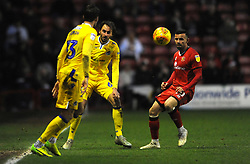 Zeli Ismail of Walsall competes with Edward Upson of Bristol Rovers - Mandatory by-line: Nizaam Jones/JMP - 26/12/2018 - FOOTBALL - Banks's Stadium - Walsall, England- Walsall v Bristol Rovers - Sky Bet League One