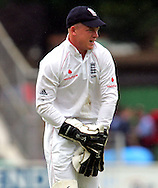Photo © ANDREW FOSKER / SPORTZPICS 2008 -  Tim Ambrose looks apologetically back at the bowler as he wishes the ground would swallow him up after he drops Hashim Amla off Andrew Flintoff ' s bowling - England v South Africa - 09/08/08 - Fourth nPower Test Match -  Day 3 - The Brit Oval - London - UK - All rights reserved