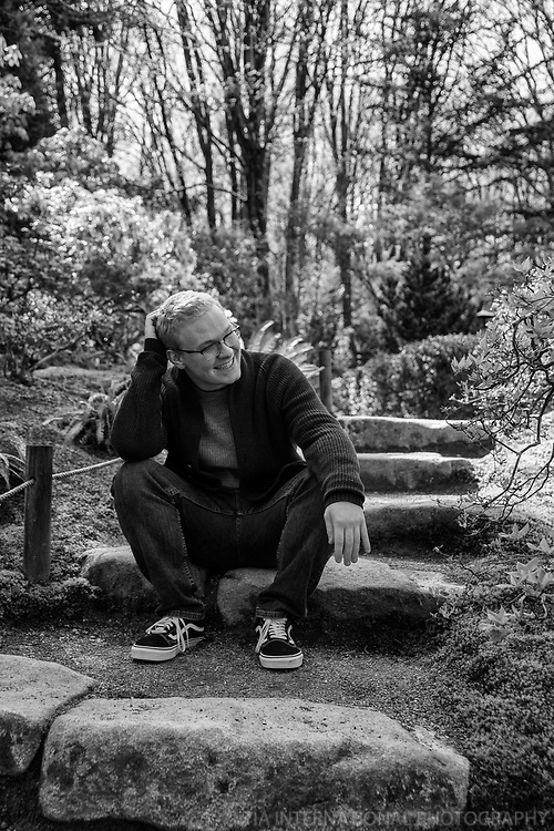 High School Senior Year Portrait, Arboretum, Seattle