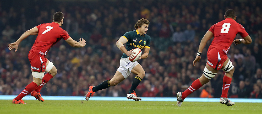 CARDIFF, WALES - NOVEMBER 29: Pat Lambie of South Africa during the Castle Lager Outgoing Tour match between Wales and South Africa at Millennium Stadium on November 29, 2014 in Cardiff, Wales. (Photo by Steve Haag/Gallo Images)