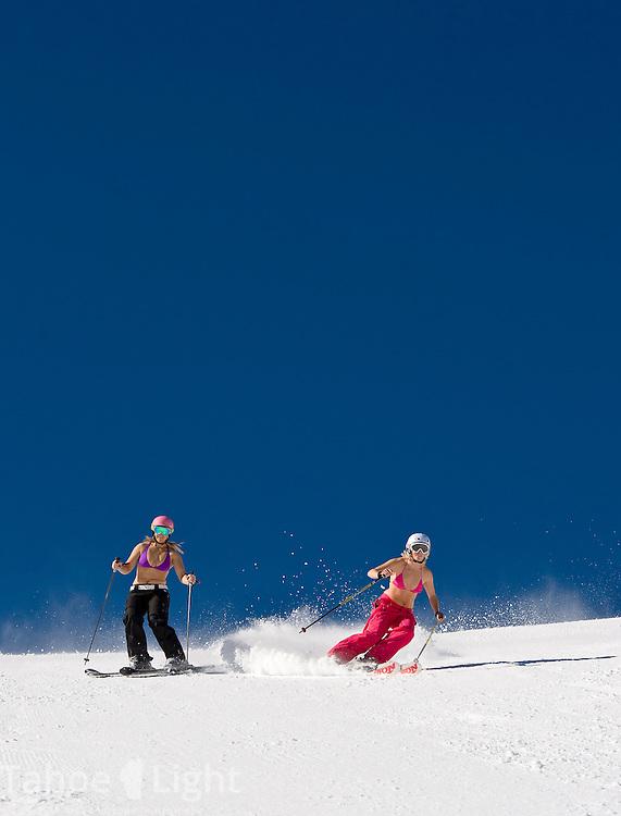 Spring skiing at Mt. Rose Ski Tahoe
