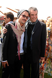 Left to right, JACK HUSTON and DANNY HUSTON at the Cartier International polo at Guards Polo Club, Windsor Great Park on 29th July 2007.<br /><br />NON EXCLUSIVE - WORLD RIGHTS