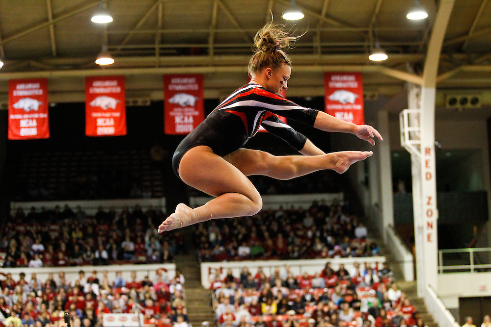 University of Arkansas Razorback 2010-2011 Women's Gymnastics Team action photos<br /> <br /> <br /> <br /> &copy;Wesley Hitt<br /> All Rights Reserved<br /> 501-258-0920