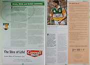 All Ireland Senior Hurling Championship - Final, .13.09.1998, 09.13.1998, 13th September 1998, .13091998AISHCF,.Senior Kilkenny v Offaly, .Minor Kilkenny v Cork,.Offaly 2-16, Kilkenny 1-13,.Carroll Meats,
