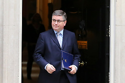 © Licensed to London News Pictures. 29/10/2019. London, UK. Justice Secretary ROBERT BUCKLAND QC departs from No 10 Downing Street after attending the weekly cabinet meeting. Photo credit: Dinendra Haria/LNP