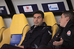 October 23, 2018 - Kharkiv, Ukraine - Head coach of FC Shakhtar Donetsk Paulo Fonseca is pictured before the UEFA Champions League Group F Matchday 3 game against Manchester City FC at the Metalist Stadium Regional Sports Complex, Kharkiv, northeastern Ukraine, October 23, 2018. Ukrinform. (Credit Image: © Vyacheslav Madiyevskyy/Ukrinform via ZUMA Wire)