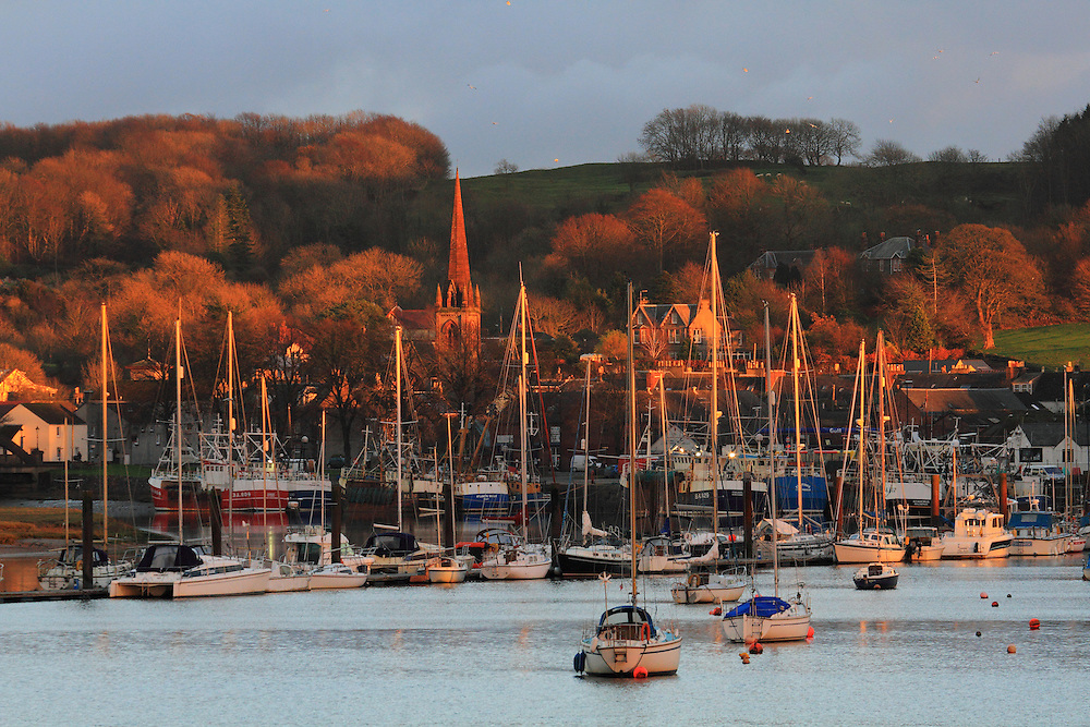 The Port of Kirkudbright in Dumfries & Galloway, Southern Scotland at Winters Dusk